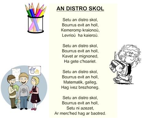 """Poésie """"An distro-skol"""" (La rentrée)"""