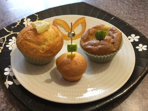 muffins citron et muffins courgette