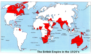 Map of the British Empire in the 1920's