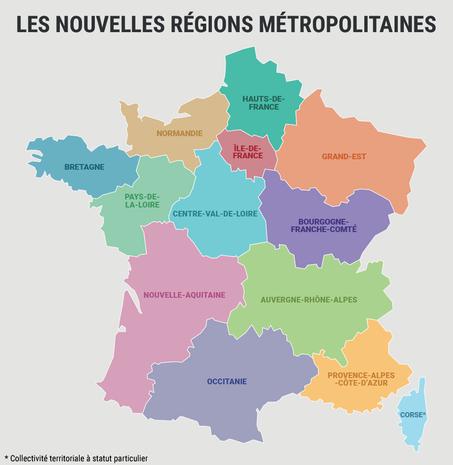 Les nouvelles régions métropolitaines