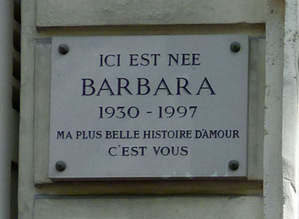 38 - Plaque Barbara - Monique Serf