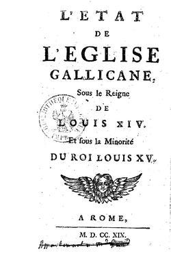 Le gallicanisme - 1682-1789