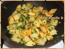Pommes de terre Persillées et Gésiers de Canard