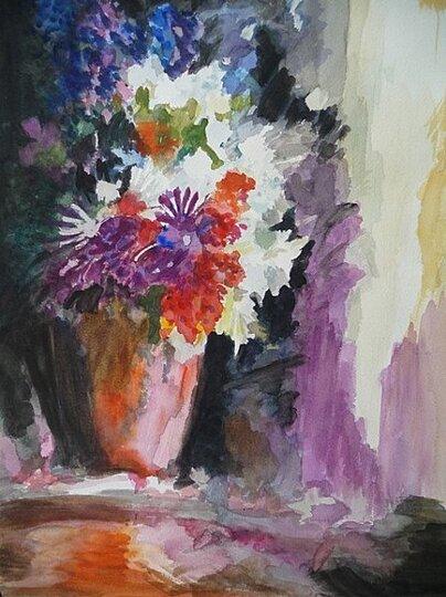 Bouquet en contre-jour