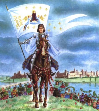 Sainte Jeanne d'Arc. Vierge († 1431)