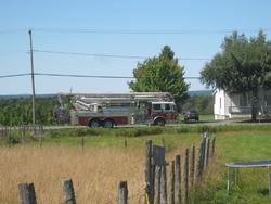 Incendie 1er septembre 2012 route 108 à Lambton