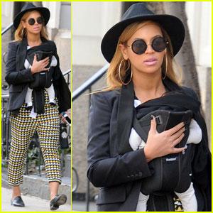 Beyonce, Baby Blue & Maman Tina en promenade dans la ville de New York