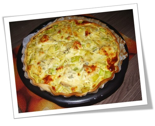 Quiche courgettes/fourme d'ambert