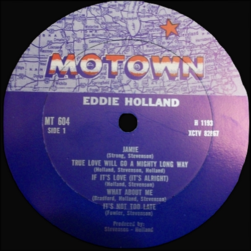 "Eddie Holland : Album "" Eddie Holland "" Motown Records MT 604 [ US ]"