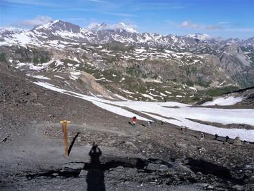 Vue du Col des Fours (2976 m) -