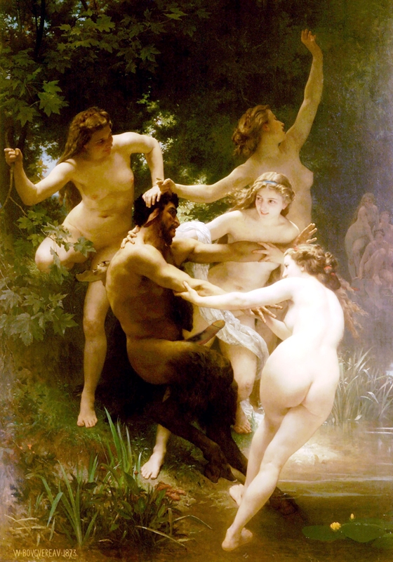 William Bouguereau/Mythologie grecque/sexualité/