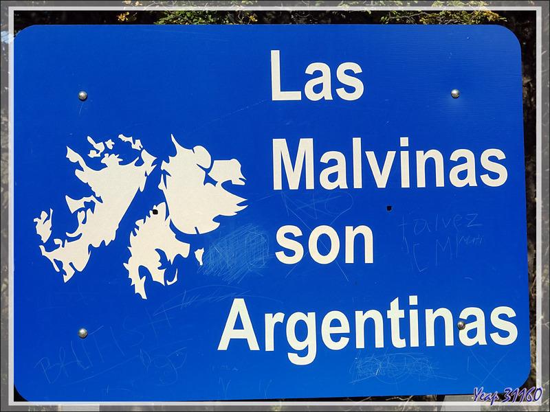 """Dernière étape de la journée avec Bahia Lapataia et un """"petit rappel"""" sur la problématique Malvinas/Falkland, notre prochaine étape - Terre de Feu - Argentine"""