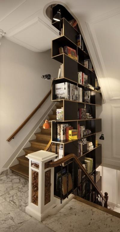 Dans les escaliers - Aménagement 16 - Déco en nuances
