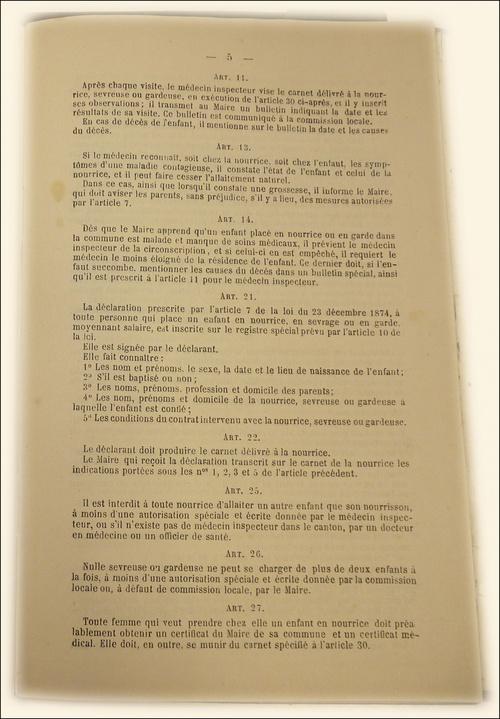 Livret de nourrice 1893 - 1894
