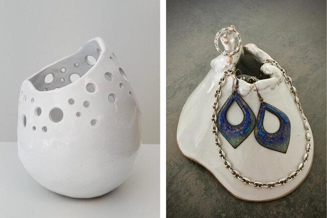Vase et porte bijoux