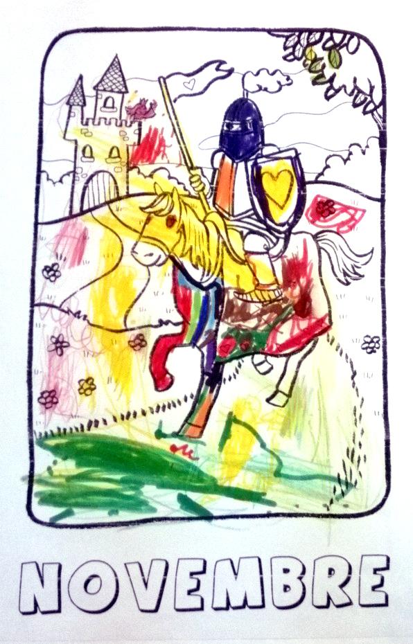 Coloriage Chevalier Gs.Coloriages De Novembre Ms Gs 2013 2014 Chateau Chevalier Et