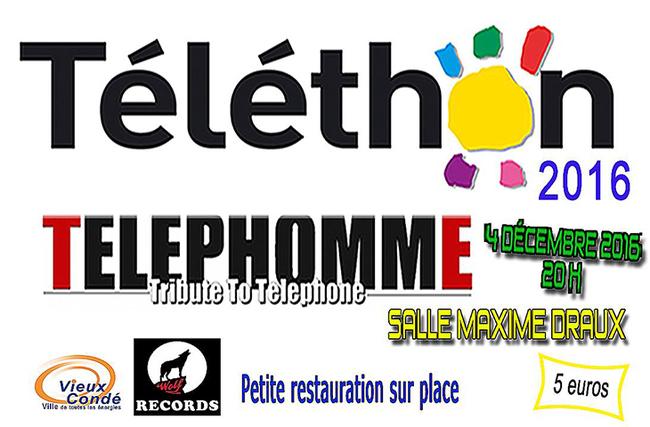 Téléthon 2016, concert Téléphomme à Vieux-Condé