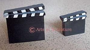 sujets décoratifs clap cinema en platre à faire soi-même - Arts et Sculpture: sculpteur, fabrication de moules et modèles