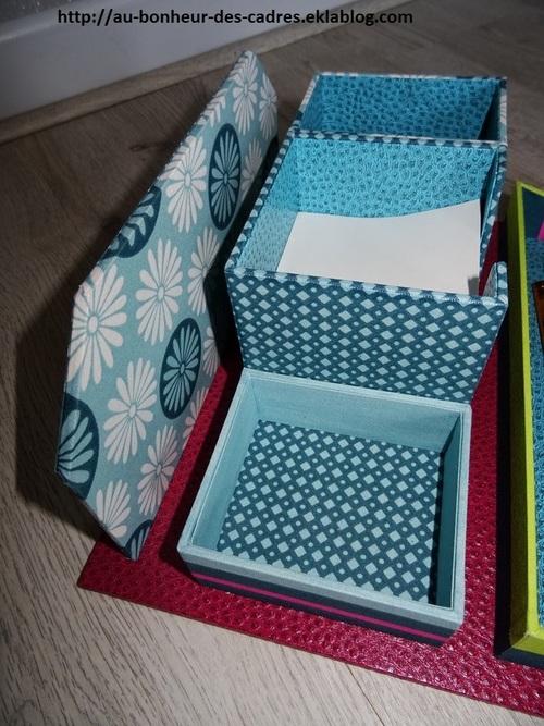 Cartonnage : ensemble de bureau turquoise