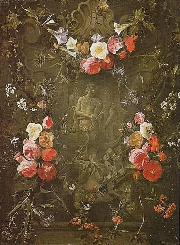 Guirlande de fleurs et -Ecce Homo- de Daniel Seghers et Era