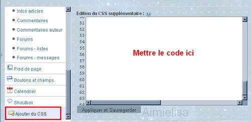 Code CSS:Personnaliser sa barre