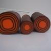 cane cible marron orange