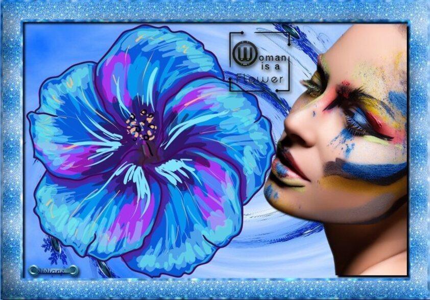 La femme est une fleur