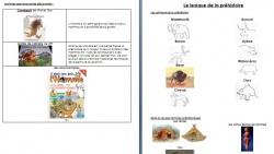 Projet Hommes Préhistoriques Maternelle