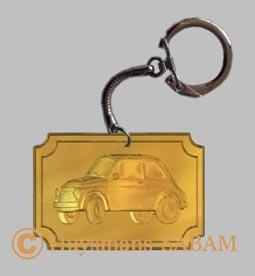 objet souvenir voiture de collection, porte-cles Fiat 500 - Arts et Sculpture: sculpteur mouleur