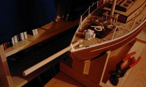 test - Seabird, voilier, cotre aurique, Yacht de 1910 - PARTIE 2 : super structure et gréement