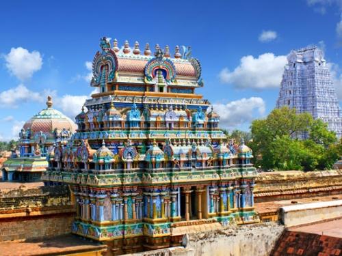 Gopuram du Meenakshi temple de Maduraï
