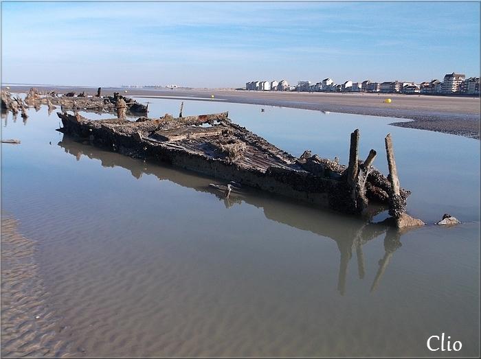 Les épaves au large de Bray-Dunes