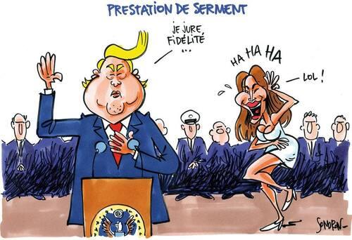 Rigolons un peu avec Trump le jour de son intronisation