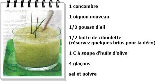 Smoothie concombre