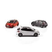 1:43 NOREV 472813 & 472814 & 472815 PEUGEOT 208 2015 (exemplaires de production)