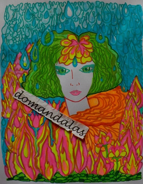 DOMANDALAS coloriages FANCIFUL FACES