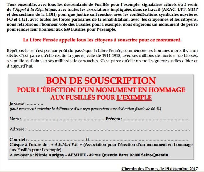 – COMMUNIQUÉ DE PRESSE –  Fusillés pour l'exemple de 1914-1918 :  Emmanuel Macron pire que Nicolas Sarkozy  et François Hollande !