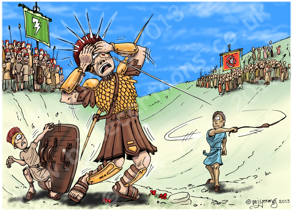 1 Samuel 17 - David and Goliath - Scene 10 - Goliath falls