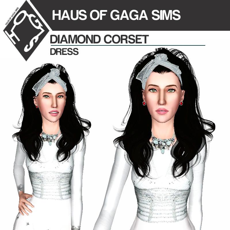 DIAMOND CORSET DRESS