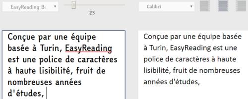 EasyReading : une police de caractères à haute lisibilité (Dyslexie et Design For All)