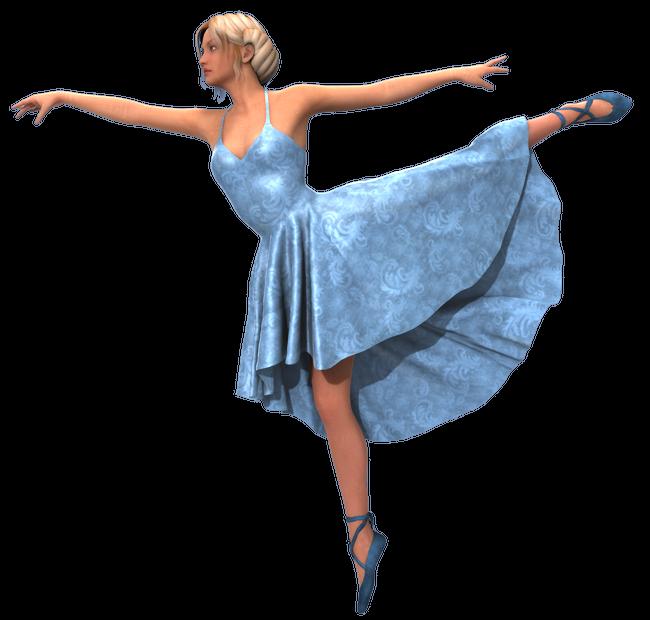 Image de danseuse classique (tube-render)