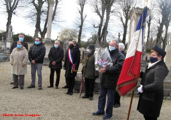 René Drappier a suivi toutes les commémorations du 19 mars dans beaucoup de villages Châtillonnais
