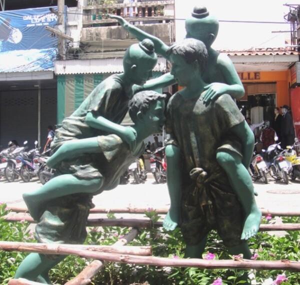 Thaïlande. Statues plage de Pattaya.