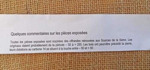 Visite aux Sources de la Seine...