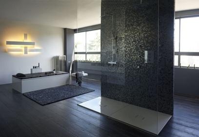 http://deavita.fr/wp-content/uploads/2014/11/salle-bains-moderne-mosaique-noire-douche-italienne-baignoire-%C3%A9l%C3%A9gante-.jpg
