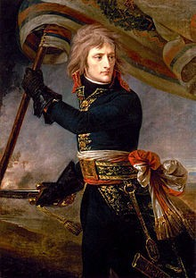 220px-1801 Antoine-Jean Gros - Bonaparte on the Bridge at A