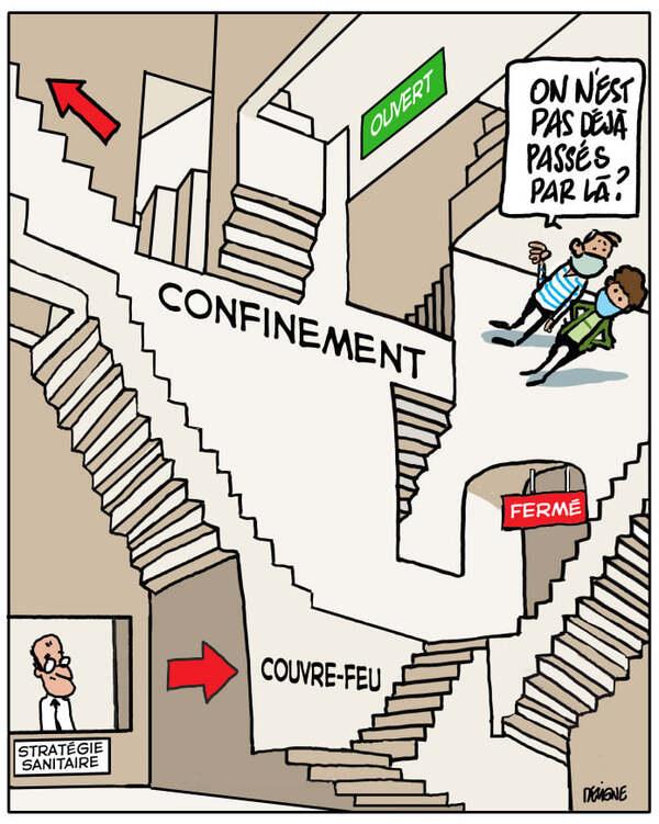Faut-il encore rire de la COVID 19 ? les dessins d'humour s'en ressentent....