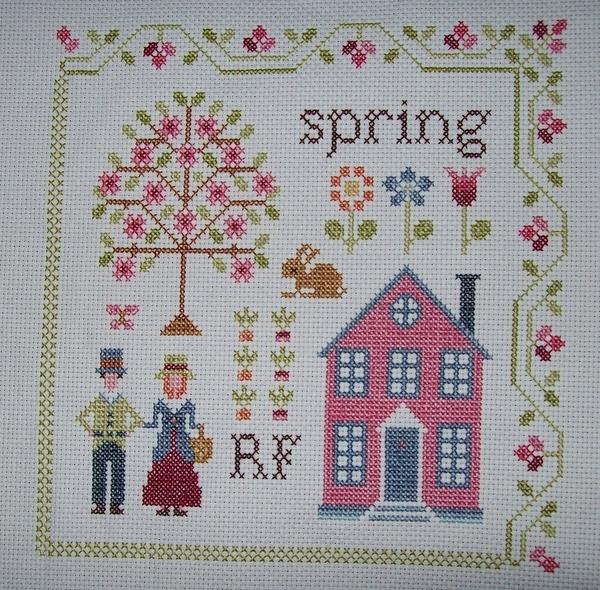 SAL Sampler n°9 Anna Fields – 3 - Spring terminé