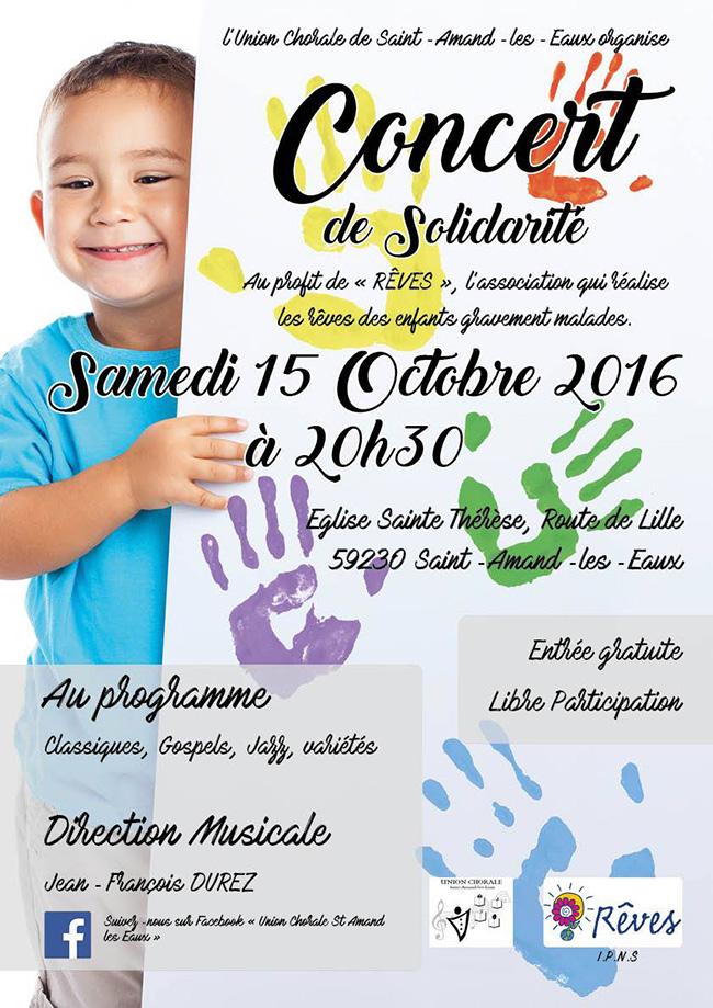 Concert de solidarité, à Saint-Amand-les-Eaux