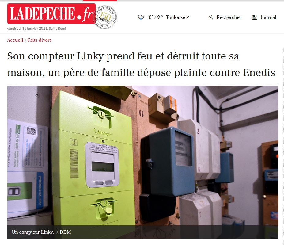 Corbeil-Essonnes >>> un logement ravagé par un incendie parti du compteur Linky